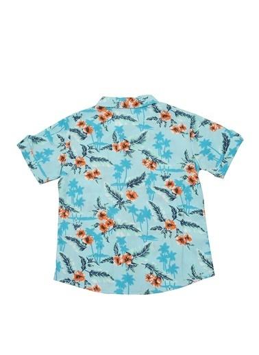 Mininio Mavi Hawaii Kısa Kollu Gömlek (5-14yaş) Mavi Hawaii Kısa Kollu Gömlek (5-14yaş) Mavi